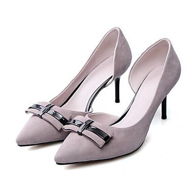 Escarpin Femme Chaussures Chaussures Printemps Confort 06794659 Automne à Aiguille Rouge clair Noir Talons Basique Cuir Talon Gris 4XUx4Tgnq
