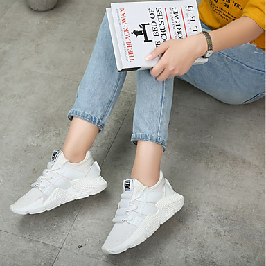 Marche Confort Chaussures Rose 06832402 Femme rond Noir Automne Plat Blanc d'Athlétisme Bout Talon Polyuréthane Chaussures xwYtqtTC