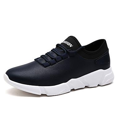 Men's White PU(Polyurethane) Summer Comfort Sneakers White Men's / Black / Blue 7c3a4e