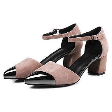 Talon Femme Talons 06797512 à Daim Noir Bottier Chaussures Rose Printemps Confort Chaussures wr10qY4rx