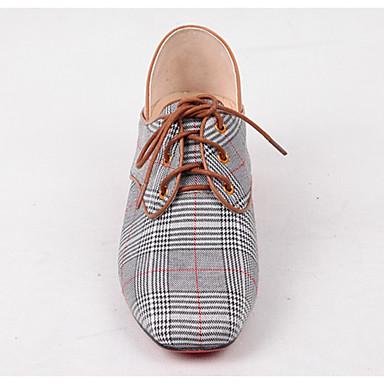 les chaussures de confort d'été en peau oxfords de mouton noir oxfords peau block talon carré brun / tep 51e544