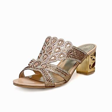 06840850 Printemps Femme Chaussures Talon Sandales Or Confort été Bleu Bottier Polyuréthane ERP1FRqav