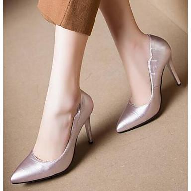 Žene Cipele PU Proljeće Udobne cipele Cipele na petu Stiletto potpetica Crn / Crvena / Pink