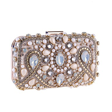 f6fc31d3518 Women's Beading / Crystals Evening Bag Rhinestone Crystal Evening Bags  Polyester / Alloy Black / Almond / Fall & Winter