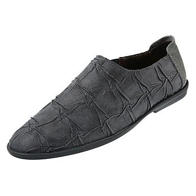 Men's PU(Polyurethane) Fall Comfort Loafers & Slip-Ons Khaki Black / Gray / Khaki Slip-Ons 93918a