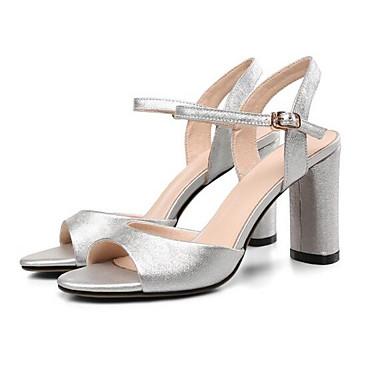 mouton Bottier Chaussures Eté Femme de Or 06835049 Confort Talon Peau Sandales Argent dItd8qw