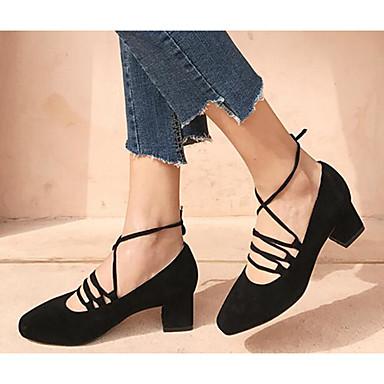 Escarpin Confort Chaussures Printemps à Talons Talon Rose Bottier de mouton Peau Chaussures Noir Basique Femme 06791396 qwx1gg
