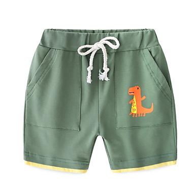 baratos Calças para Meninos-Infantil Para Meninos Activo Sólido Algodão Shorts Verde
