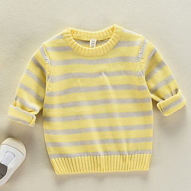 2197b176d Kids Girls  Active Striped Long Sleeve Polyester Sweater   Cardigan ...