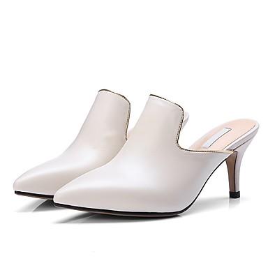 Chaussures Talon Sabot Mules Confort Noir Cuir Beige amp; 06797414 Eté Femme Aiguille 7CnwSdqS