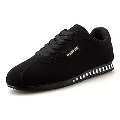 Men's Black Suede / PU(Polyurethane) Fall Comfort Sneakers Black Men's / Gray / Red 942ea8