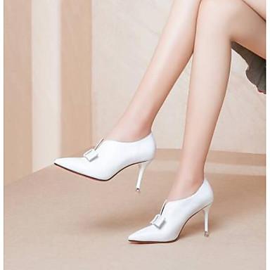 06791243 Chaussures à Basique Talon Aiguille Noir Chaussures Nappa Blanc Talons Femme Escarpin Cuir Bout Marron Eté pointu YASqaw