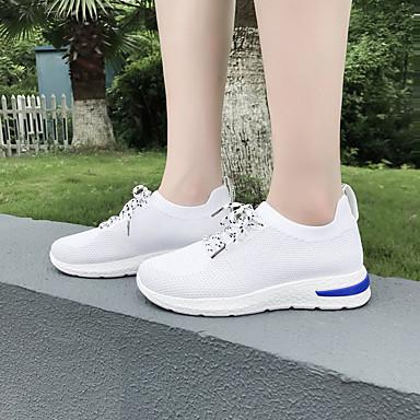 Mujer Negro Confort deporte Tacón Blanco Zapatos Dedo 06830385 redondo Rojo de Zapatillas Plano Malla Verano SrSn7q