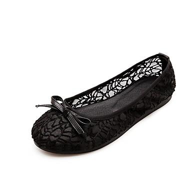 06817206 Primavera Confort PU Beige Mujer verano Zapatos Tacón Plano Negro Bailarinas pqxvBSAw