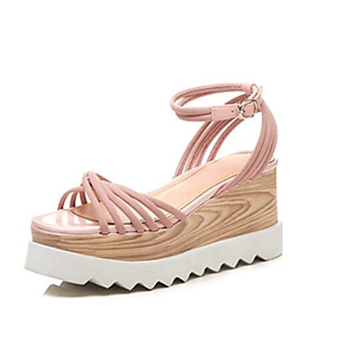 Femme 06783106 Jaune ouvert Daim Sandales Rose Bout Chaussures Confort Eté Creepers Noir raPHrzS4