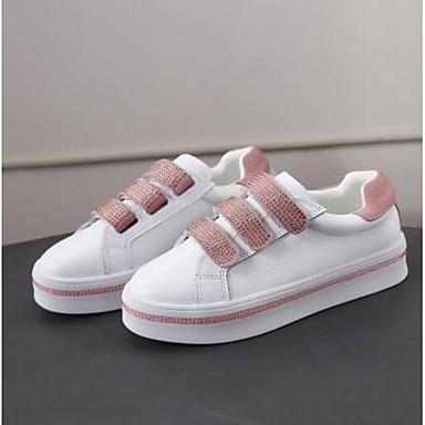 Chaussures 06795029 Nappa Basket Printemps Rose Eté Creepers Confort Cuir Femme Argent rond Bout qaxd7pwBq