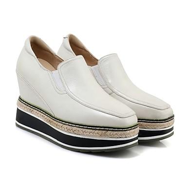 D6148 06840776 Creepers Mocassins Automne Noir Chaussons Femme Confort Chaussures Blanc Kaki Polyuréthane et p0nCp1qW
