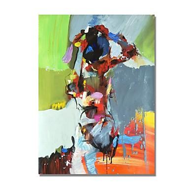 levne Obrazy a nástěnné dekorace-Hang-malované olejomalba Ručně malované - Abstraktní Současný styl Moderní Obsahovat vnitřní rám / Reprodukce plátna