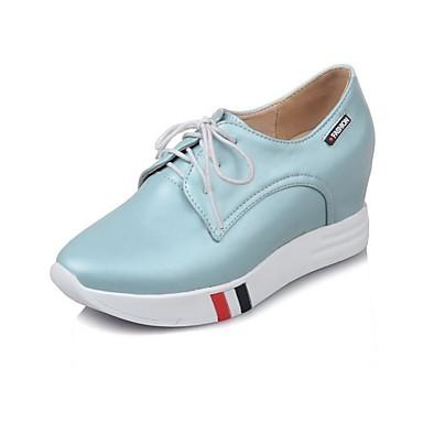 Talon 06811681 Bleu Polyuréthane Femme Rose Oxfords été Confort Noir Chaussures Printemps Personnalisé HnPaOH