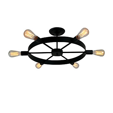 OYLYW 6-luz Montage de Flujo Luz Ambiente - Mini Estilo, 110-120V / 220-240V Bombilla no incluida / 20-30㎡ / E26 / E27