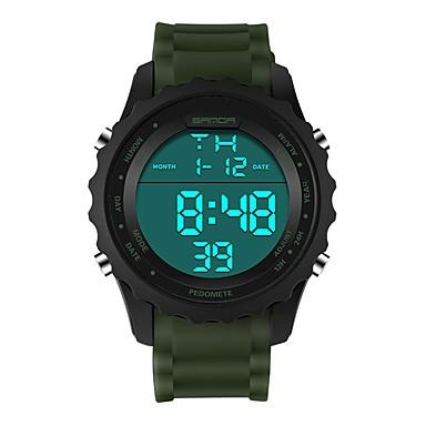 baratos Relógios Homem-SANDA Homens Mulheres Relógio Esportivo Relogio digital Japanês Digital Silicone Preta / Marrom / Cáqui 30 m Impermeável Calendário Cronômetro Digital Luxo Fashion - Azul Khaki Verde Escuro