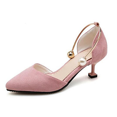 Fiesta Verano Tacón Negro Ante Stiletto y Tacones Rojo 06791406 Confort Mujer Zapatos Noche Rosa XwHxRqECv