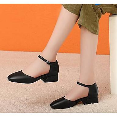 Printemps Beige Chaussures Talons Noir à Nappa Talon Bottier Femme 06795325 Automne Confort Chaussures Cuir 7tRqw8x