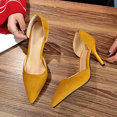 Verano Mujer Básico Zapatos Tacón Amarillo Pump Tacones Ante Rojo 06779430 Negro Stiletto Fiesta Puntiagudo PU y Noche Dedo wSqtrpS