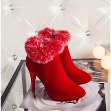 Demi Botte Chaussures Noir Bottine Femme Talon Rouge Aiguille à Hiver la 06792562 Violet Bottes Bottes Polyuréthane Confort Mode 7wxwSO1q