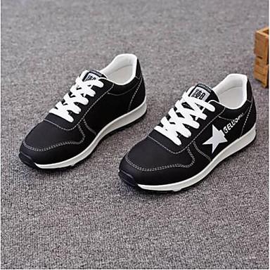 Primavera Zapatillas redondo Plano PU Zapatos Mujer 06790806 Tacón Atletismo Negro Verde verano Rojo de Confort Dedo zHEnnx