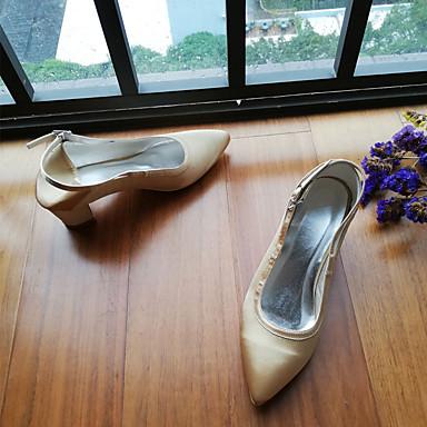 Basique Escarpin Chaussures Satin 06816075 Evénement Bout Talon Boucle Femme Soirée Or Printemps été Chaussures mariage pointu de Bottier amp; Y5qx5wIXUn