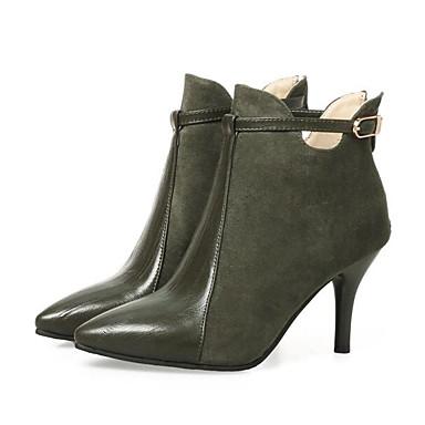Polyuréthane Rouge Confort Automne Bottes Bottes Mode Noir la hiver Vert Aiguille Talon Chaussures Femme 06849809 à Véronèse 5x4ZRR