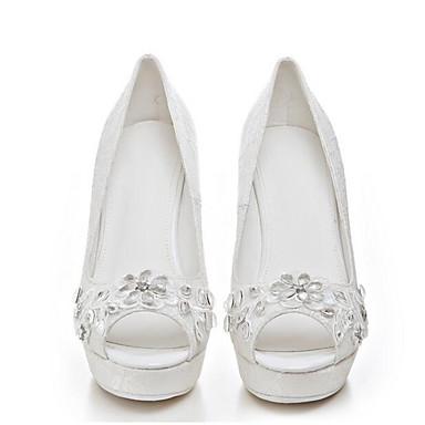 Hauteur Blanc Eté de à 06869367 Chaussures semelle Confort Talons Satin Femme compensée PY10qH5wvW