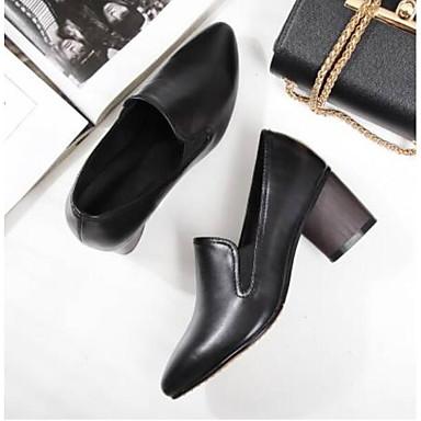 Talon Bout Chaussures à Confort fermé Talons 06848794 Bottier Cuir Femme Nappa Printemps Chaussures Noir wXvvH8q