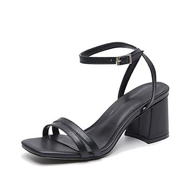 Sandales 06863739 Blanc Talon Noir Nappa Confort Eté Cuir Chaussures Femme Bottier XqwSvv