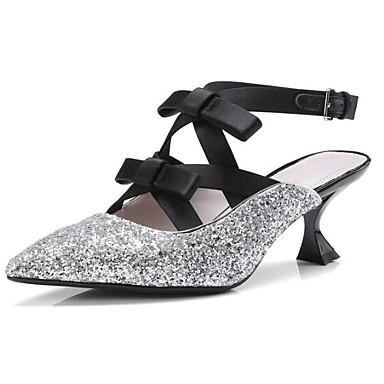 Talons synthétique 06865042 Talon Matière Femme Eté Or à hétérotypique Daim Confort Noir Argent Chaussures 0qEEO