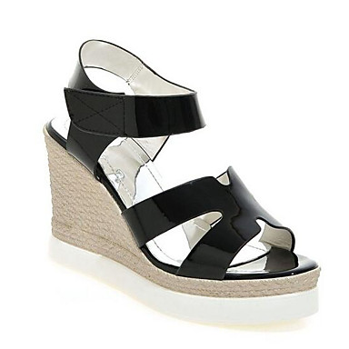 Cuña PU Negro Mujer Sandalias Primavera Confort 06858108 Color Tacón Blanco Zapatos Camello Y6qw65