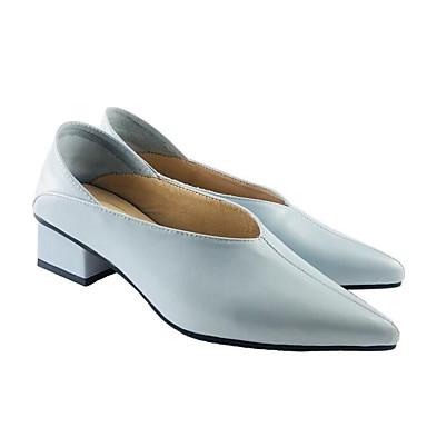 Printemps Talons de à Confort Noir Chaussures Escarpin Femme Bottier Chaussures Peau mouton 06841465 Blanc Bleu Basique Talon EnwvxzqIz