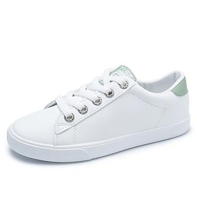 Rosa PU 06857168 redondo Verano Bajo deporte Zapatillas Zapatos Mujer Dedo de Verde Tacón Confort wqCSH7