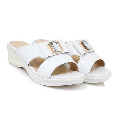 Femme Chaussures Cuir Cuir Cuir Nappa Printemps Confort  s Talon Plat Blanc / Rose | Beau  11272b