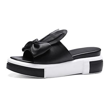 Nappa Chaussures Confort Cuir Plat Noir Talon 06863865 Sandales Blanc Femme Eté wUZEaqwx