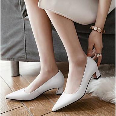 Confort Talon Femme Blanc Chaussures Chaussures Noir Aiguille Nappa Printemps Cuir à 06856797 Talons Bw1fIqR