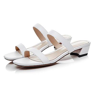 Cuir Sandales 06858097 Blanc Noir Bottier Talon Femme Nappa Confort Chaussures Eté Rose p6qHw5