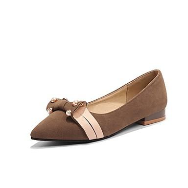 06848493 Ballerines Véronèse Brun Foncé Chaussures Femme Bottier été Confort Talon Daim Printemps Vert Beige qOnXZxAf
