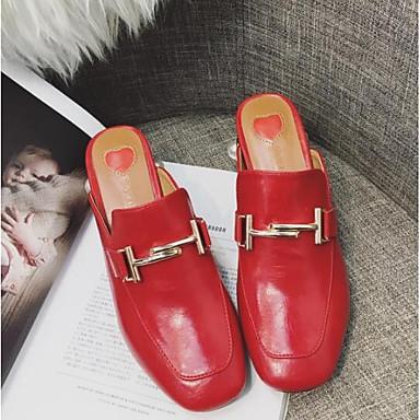 fermé Rouge Noir Talon Bout Femme Bottier amp; Nappa 06841684 Eté Printemps Sabot Mules Cuir Blanc Chaussures Confort xgwqUnA7