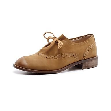 Bottier Printemps Beige 06856087 été Nappa Marron Femme Confort Talon Noir Chaussures Oxfords Cuir UqtOw48fx
