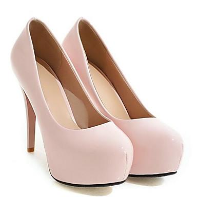 Zapatos Tacón Confort Tacones Primavera Mujer 06862029 PU Stiletto Blanco Rosa Negro HfwXqfdRc