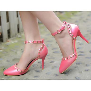 Confort 06849625 Otoño Pump Primavera PU Stiletto Azul Blanco amp; Zapatos Rojo Tacones Básico Mujer Tacón SwR6qXx