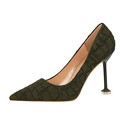 Rojo Mujer Confort Tacones 06840931 Zapatos Stiletto Ante Verde Tacón Rosa Otoño n1BwWp0xr1