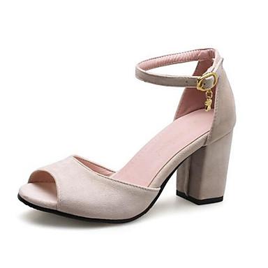 Sandalias Cuadrado 06841737 Mujer Wine Beige Primavera Verde Confort Ante Tacón Zapatos wwBq6ZI